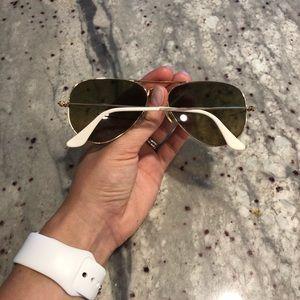 Ray-Ban Accessories - Women's Ray Ban Gold Aviator Sunglasses